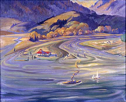 First Narrows&nbsp;Oil on Canvas 19.5&quot; x 15.5&quot;, 1928<br/>Private Collection, Vancouver, Canada