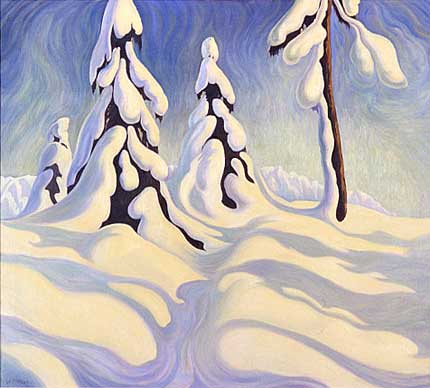 "Shadows, Grouse Mountain Oil on Canvas 36"" x 40"", 1928 Private Collection, Vancouver, Canada"
