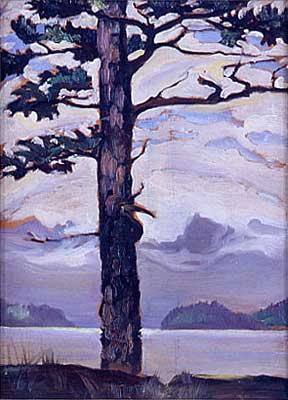 The Sentinel&nbsp;Oil on Board 8.8&quot; x 11.5&quot;, 1929<br/>Private Collection, Vancouver, Canada