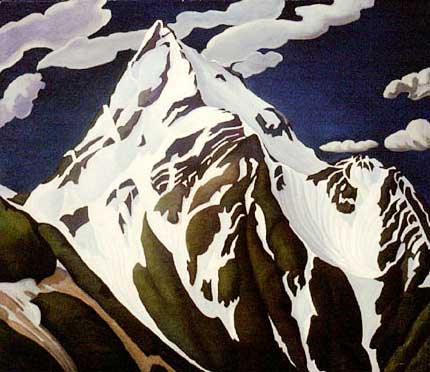 "Mount Cheam Oil on Canvas 48"" x 48.5"", 1933"