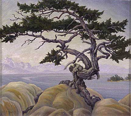 "Windswept, Albert Head, Victoria Oil on Panel 16"" x 18"", 1945"