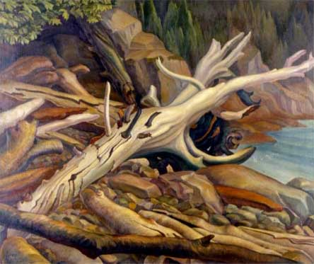 "Tangled Beach Oil on Canvas 36"" x 44"", 1935 Private Collection, Vancouver, Canada"