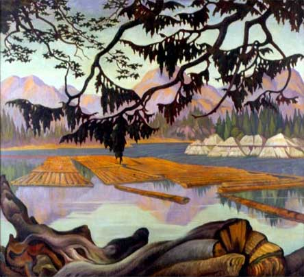 "The Booming Ground Oil on Canvas 36"" x 40"", 1937 Private Collection, Vancouver, Canada"