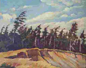 "Gravel Pit, Albert Road, Victoria B.C. Oil on Panel Board 12"" x 15"", 1936 Private Collection, West Vancouver, Canada"