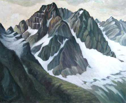 "The Lizard Range Oil on Canvas 12.75"" x 16"", 1958 Private Collection, Vancouver, Canada"