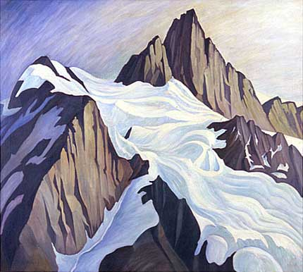 "The Far Place, Mount Shuskan Oil on Canvas 36"" x 40"", 1936"